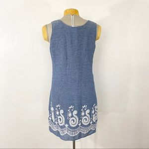 Umgee Dresses - ⭐️Umgee Chambray Embroidered Dress
